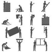 Builders People Set — Stock Vector