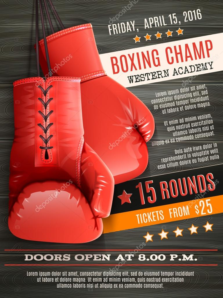 Free boxing poster templates for illustrator