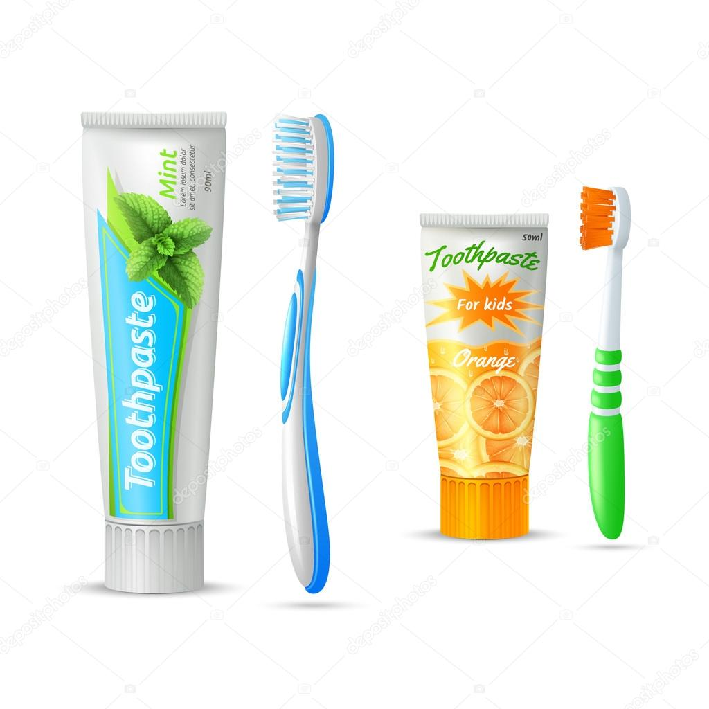 Kids Toothpaste And Toothbrush Toothpaste And Toothbr...