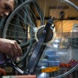 Man repairing a bike — Stock Photo #69245265