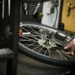 Man repairing a bike — Stock Photo #69245871