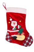 Red Christmas stocking — Stock Photo