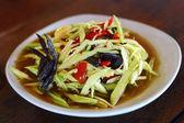 Green papaya salad — Stock Photo