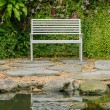 Bench in garden — Stock Photo #61848805