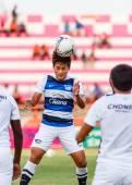 SISAKET THAILAND-MAY 28: Surawich Lokawit of Chonburi FC. in act — Foto Stock