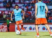 SISAKET THAILAND-AUGUST 13: Somsak Wongyai of Sisaket FC. in act — Photo