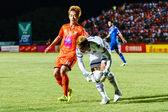 SISAKET THAILAND-AUGUST 13: Nuttawut Khamrin of Sisaket FC. (ora — Stock Photo