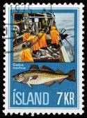 Icland stamp — Stock Photo