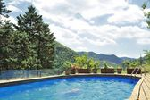 Italian countryside with pool — Stock Photo