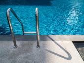 Swimming pool stairs — Stock Photo