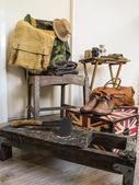Vintage male clothing — Stock Photo