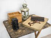 Vintage retro accessories — Stock Photo