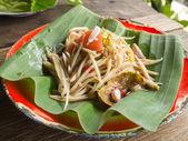 Thai papaya salad (Som tum) — Stock Photo