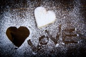 Valentine cookies and decorations — Foto de Stock