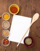 Recipe with spices — Foto de Stock