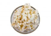 Popcorn bowl on top — Stock Photo