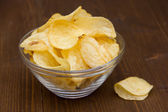 Bowl of chips of wood — Stock Photo