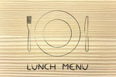 Fork and knife, restaurant themed design: menu of the day — Stock Photo