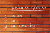 Business goals: planning success — Stock Photo