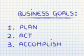 Business goals: planning success — Stock Photo