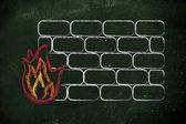 Security firewall graciosos de internet y diseño — Foto de Stock