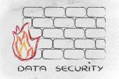 Security firewall graciosos de internet y diseño — Foto de Stock