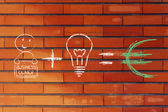 Formula for success: entrepreneurs plus ideas equals profits (euro) — Stock Photo