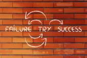 Try, fail, try again till success — 图库照片