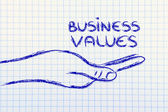 Successful business values in your hands — Стоковое фото