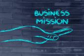 Missão de negócios bem sucedidos em suas mãos — Fotografia Stock
