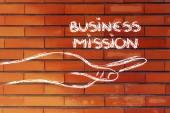 Succesvolle business missie in uw handen — Stockfoto