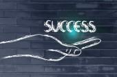 Succes in uw handen — Stockfoto