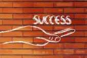 Erfolg in ihren händen — Stockfoto