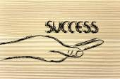 Success in your hands — Stock Photo
