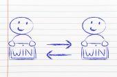 Austausch von Win-Win-Lösungen — Stockfoto