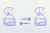 Exchanging Win Win solutions — Stock Photo