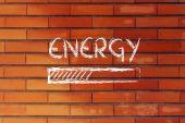 Funny progress bar with energy loading — Stok fotoğraf