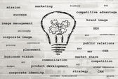 Successful ideas and business concepts — Stock Photo