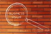 Focusing on business vision and management, magnifying glass design — Stock Photo