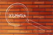 Encontrando a determinação, o projeto lupa — Foto Stock