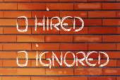 Hired or ignored: recruitment process outcome — Stock Photo