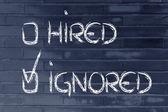 Candidate ignored: negative recruitment process outcome — Stock Photo