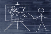 Learn or decide how to go global — Foto Stock