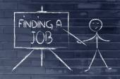 How to find a job — Stock Photo