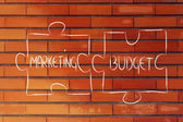 Marketing & budget,jigsaw puzzle design — Stock Photo