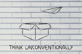 Business vision: think unconventionally — Stock Photo