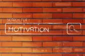 Search engine bar, search for motivation — Stock Photo