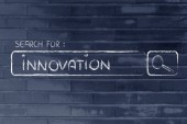 Search engine bar, seeking innovation — Stock Photo