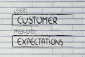 User Customer, password Expectations — Stock Photo