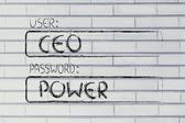 User CEO, password Power — Foto de Stock